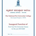 Inaugural Function of First Year Pre-University Classes for the year 2019-2020